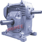 Worm Gearbox - Solid shafts, Overdriven Input shaft