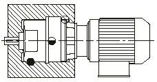 Mounting 3 B6 - INLINE HELICAL GEARED MOTOR
