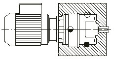 Mounting 2 B7 - INLINE HELICAL GEARED MOTOR