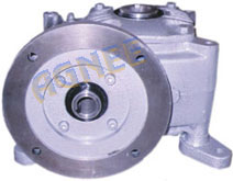 Worm Gearbox with Hollow input shaft with C Flange mounting for standard B5 Electric motors and hollow output shaft