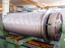 Turning of Cable Drum of 175 ton Capacity Hoist
