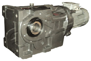 Helical-Bevel Helical Geared Motor