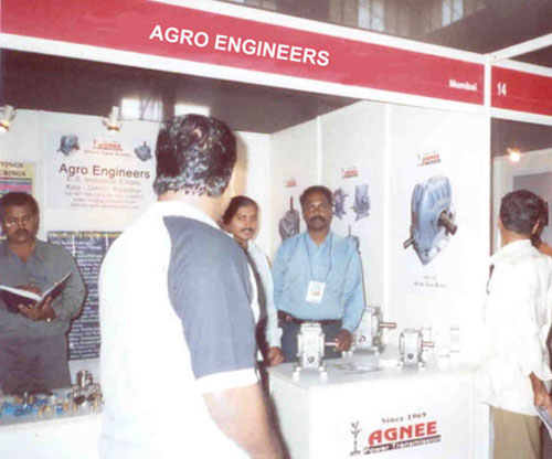Stall of AGRO ENGINEERS at INTEC 2006-Worm Gearboxes Displayed