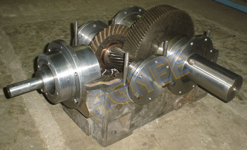 Internal Parts of Bevel Helical Reduction Gearbox, Right Angle Bevel Helical Gearbox
