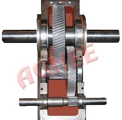 Internal parts of Pump Jack Helical Gearbox (Assembly of Gears)